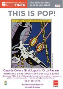 El lenguaje del pop protagonista de la nueva exposición de la Red ITINER con escala en Valdemorillo