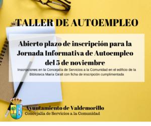 Abierto plazo de inscripción para la  Jornada Informativa de Autoempleo  del 5 de noviembre