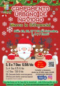 Gymkhanas, talleres, juegos y más sorpresas en los Campamentos Urbanos de Navidad  con los que Valdemorillo ¡¡Marca la diferencia!!