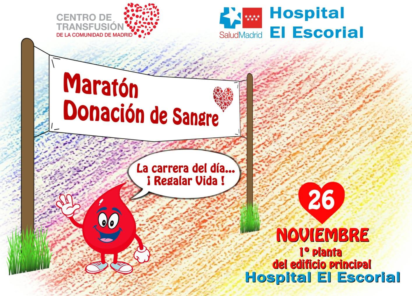 """Valdemorillo """"se apunta"""" a Maratón de Sangre del 26 de noviembre en el Hospital El Escorial"""
