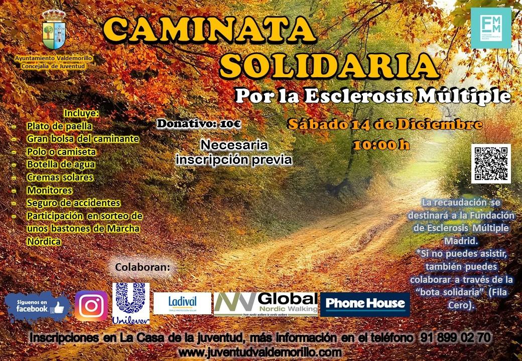 Este 14 de diciembre, Valdemorillo suma sus pasos contra la Esclerosis Múltiple con una caminata solidaria abierta a la participación de todos