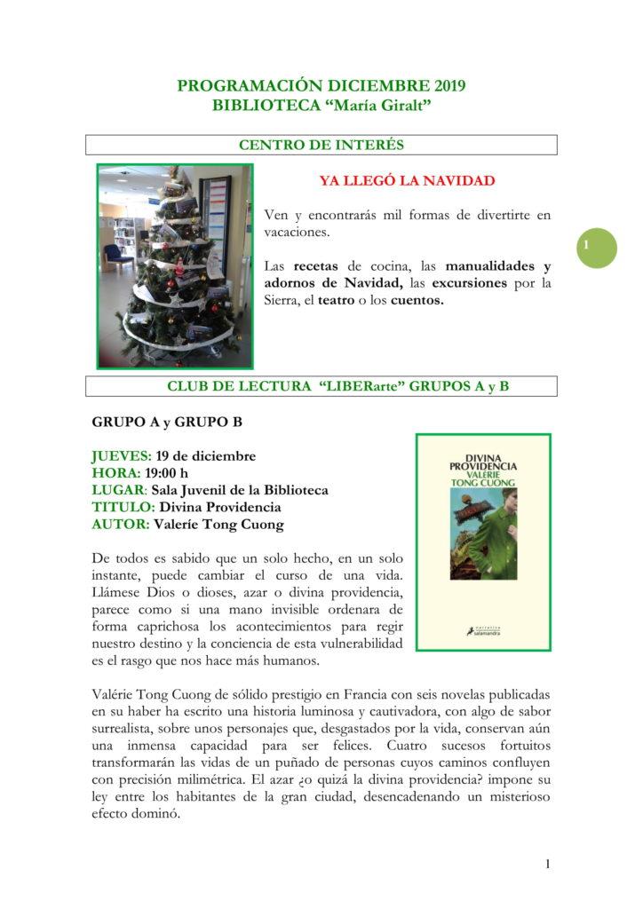 PROGRAMACIÓN DICIEMBRE 19-01