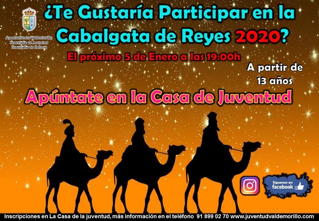 Valdemorillo busca pajes para  su Cabalgata de Reyes. Los voluntarios pueden inscribirse hasta el 3 de enero