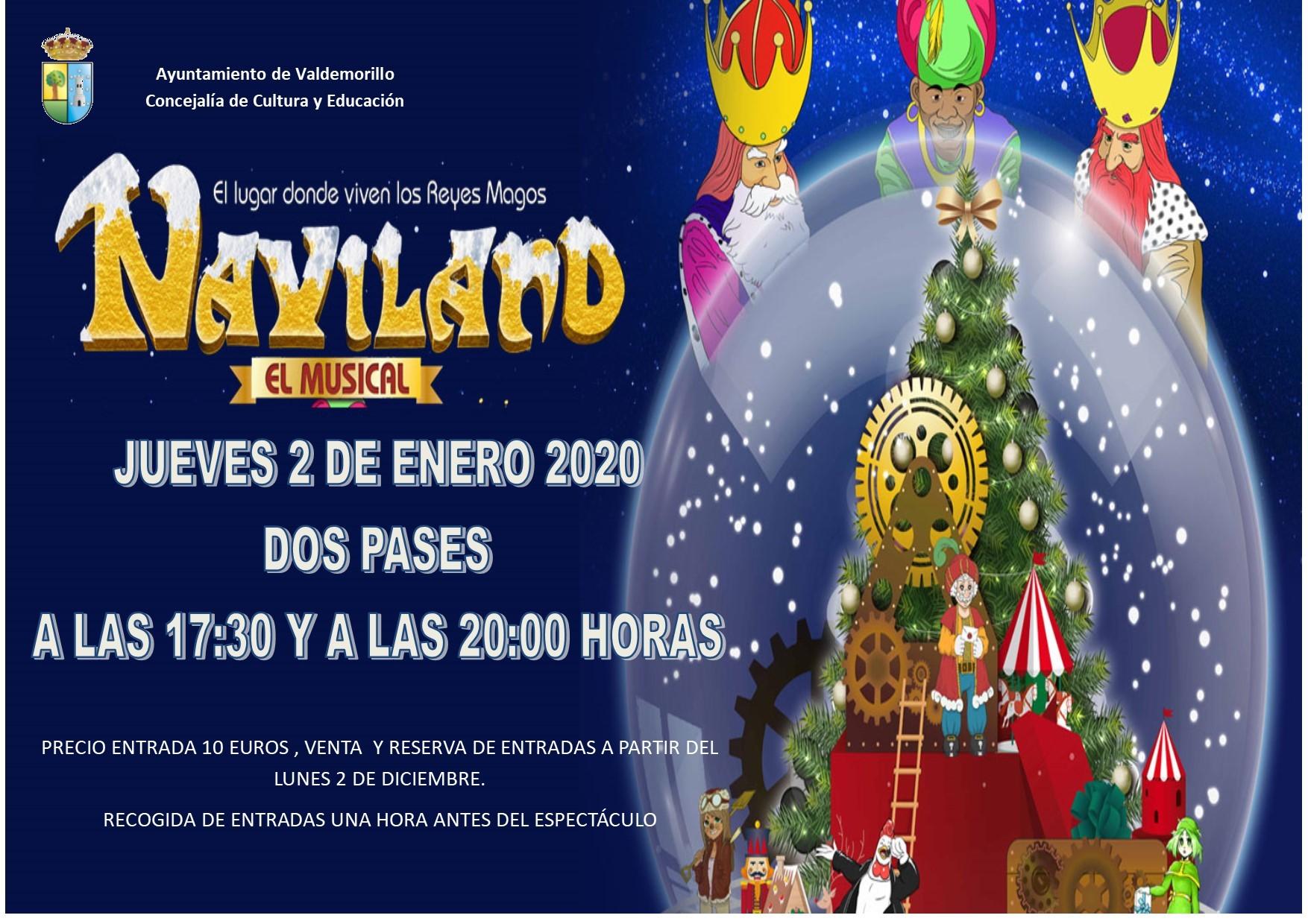 Musical familiar «NAVILAND» El lugar donde viven los Reyes Magos