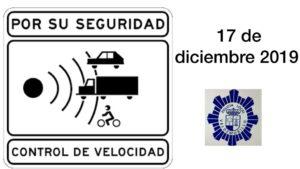 Para seguridad de todos, peatones y usuarios en general, este martes, 17 de diciembre,  controles de velocidad en las calles de Valdemorillo