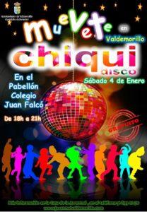Gran novedad para la agenda de ocio de los peques en sus vacaciones navideñas,  Valdemorillo les abre su Chiqui Disco  el 4 de enero, gratuita, de 18,00 a 21,00 horas.