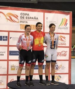 Adriana San Román arranca 2020 desde el podio: además de proclamarse subcampeona en el Campeonato de España de Omnium, venció en la Copa Nacional de Ciclismo en Pista  en la modalidad de Madison