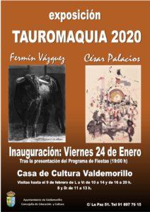Valdemorillo proyecta su mirada a la Tauromaquia  en el arte de César Palacios y Fermín Vázquez,  casticismo y pasión por el toro junto a los detalles  más pintorescos en  una exposición para encontrarse con la Fiesta
