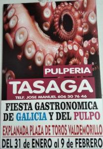 Valdemorillo pone ya en bandeja la  Fiesta Gastronómica de Galicia y el Pulpo,  del 31 de enero al 9 de febrero,  para ponerle aún más sabor a sus celebraciones en honor de las Candelas y San Blas.