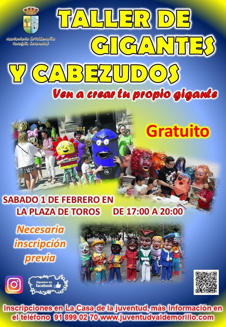Novedoso taller de cabezudos, el 1 de febrero,  para que los niños y adultos de Valdemorillo creen sus propios Gigantes y disfruten participando y viviendo las tradiciones locales