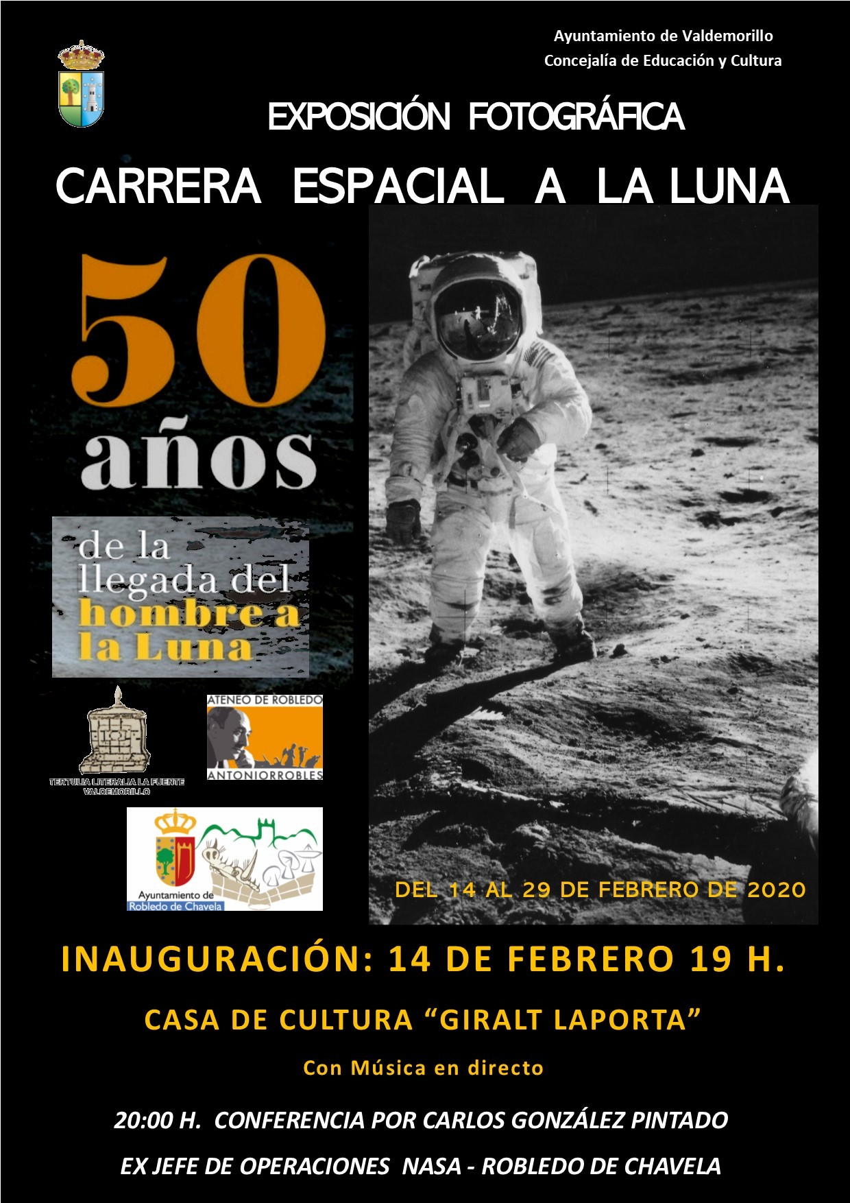 La carrera espacial a la luna toma tierra ya  en la Sala de Exposiciones de la Giralt Laporta