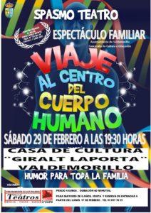 Este 29 de febrero,  'Viaje al centro del Cuerpo Humano' en Valdemorillo  con Spasmo Teatro