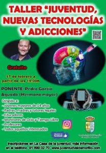 Pedro García Aguado, en Valdemorillo,  este lunes 17 de febrero, las 19,00 horas,  para analizar el uso de las nuevas tecnologías y las adicciones que provocan