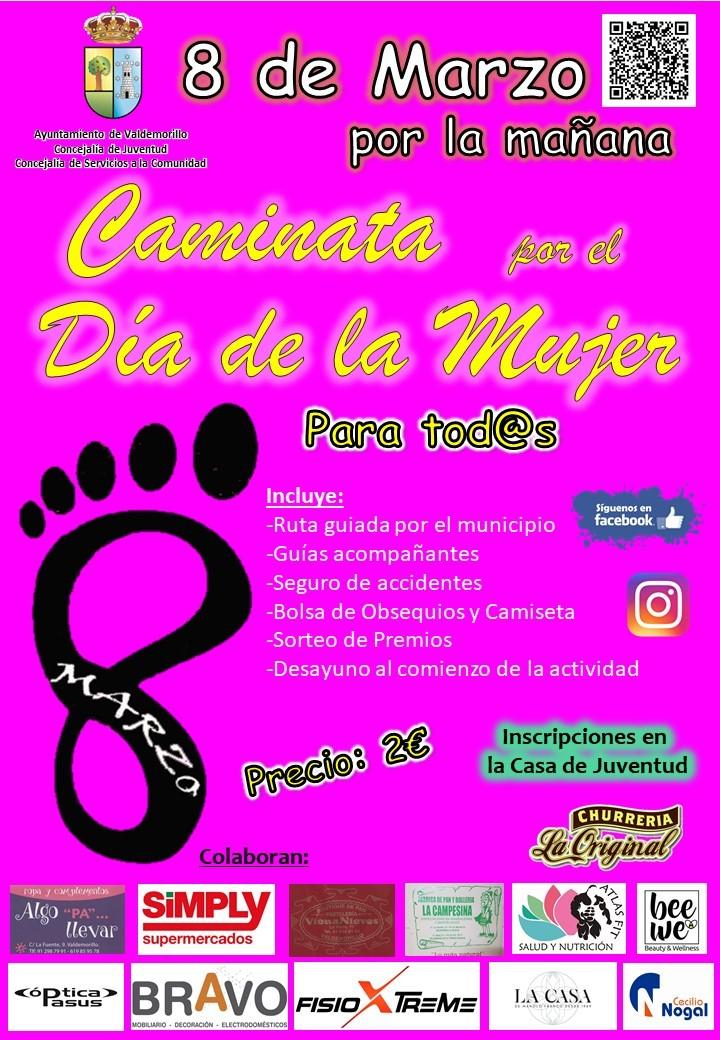 Valdemorillo anima a sus vecinos  a batir récord de participación en la Caminata por el Día de la Mujer