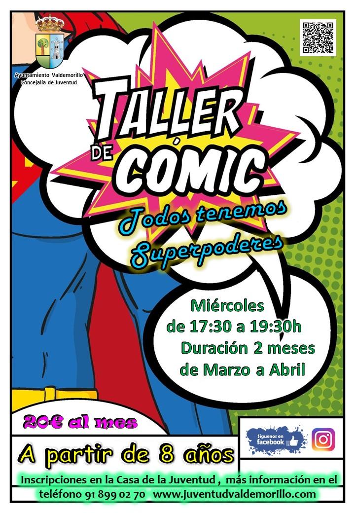 Valdemorillo, a punto de estrenar  una novedad más para sus niños y jóvenes,  el taller de cómic para mayores de 8 años