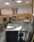 Exhaustiva desinfección de todos los despachos, salas de reunión, registro y oficinas al completo del Ayuntamiento de Valdemorillo