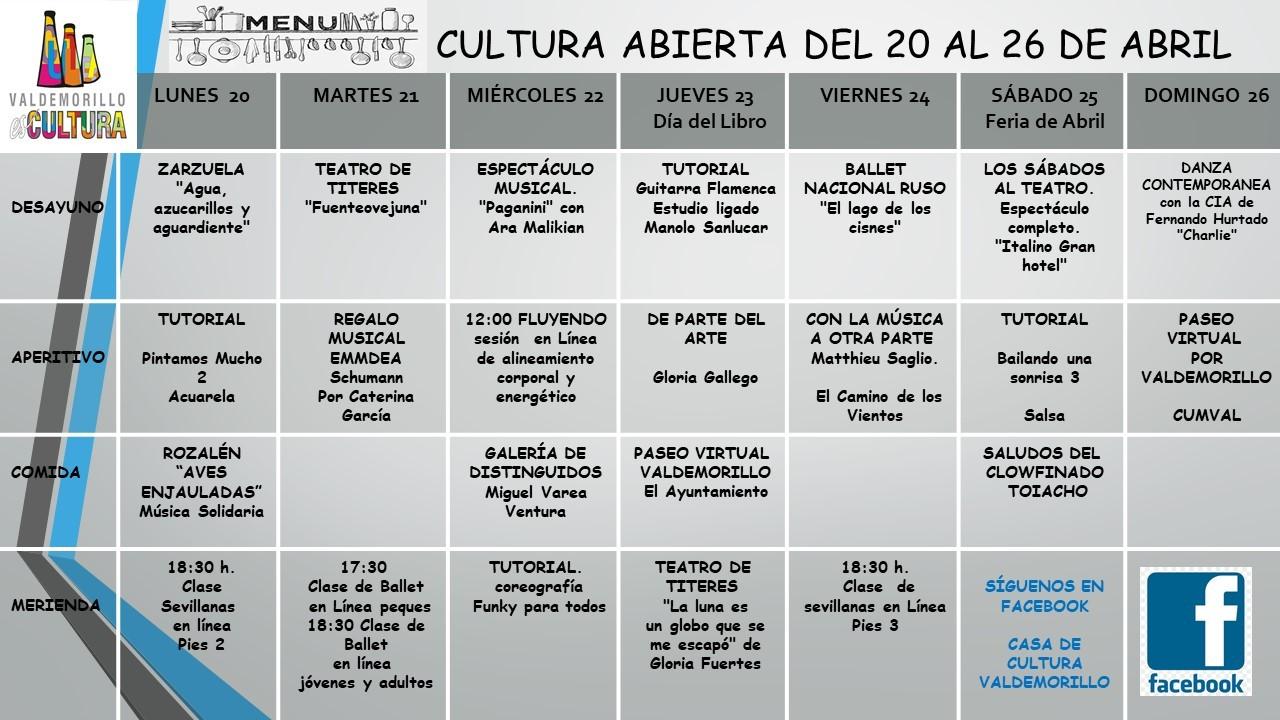 Paseos virtuales, espectáculos, clases y mucho más  en el menú cultural de la semana en Valdemorillo.  La Giralt Laporta acerca a todos sus novedades vía redes