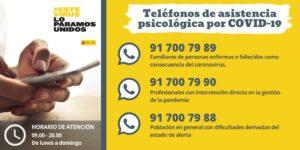 ATENCIÓN PSICOLÓGICA PARA AFRONTAR EL COROVIRUS