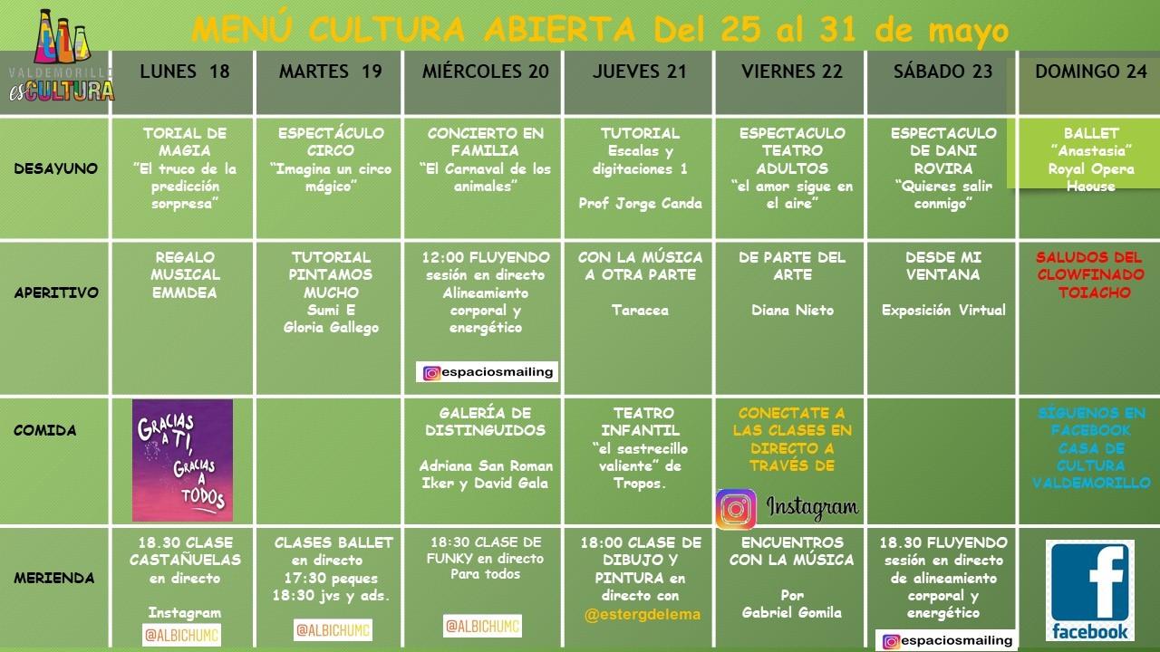 Las  clases de castañuelas, un toque novedoso en la programación semanal que Valdemorillo mantiene vía redes