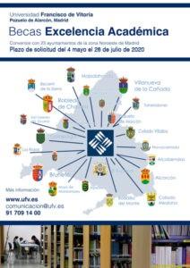 Abierto ya el plazo para los empadronados que quieran solicitar una beca de estudio en la   Universidad Francisco de Vitoria