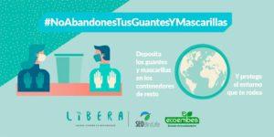La Concejalía de Limpieza y Medio Ambiente anima a los vecinos de Valdemorillo a participar en la campaña #NoAbandonesTusGuantesYMascarillas