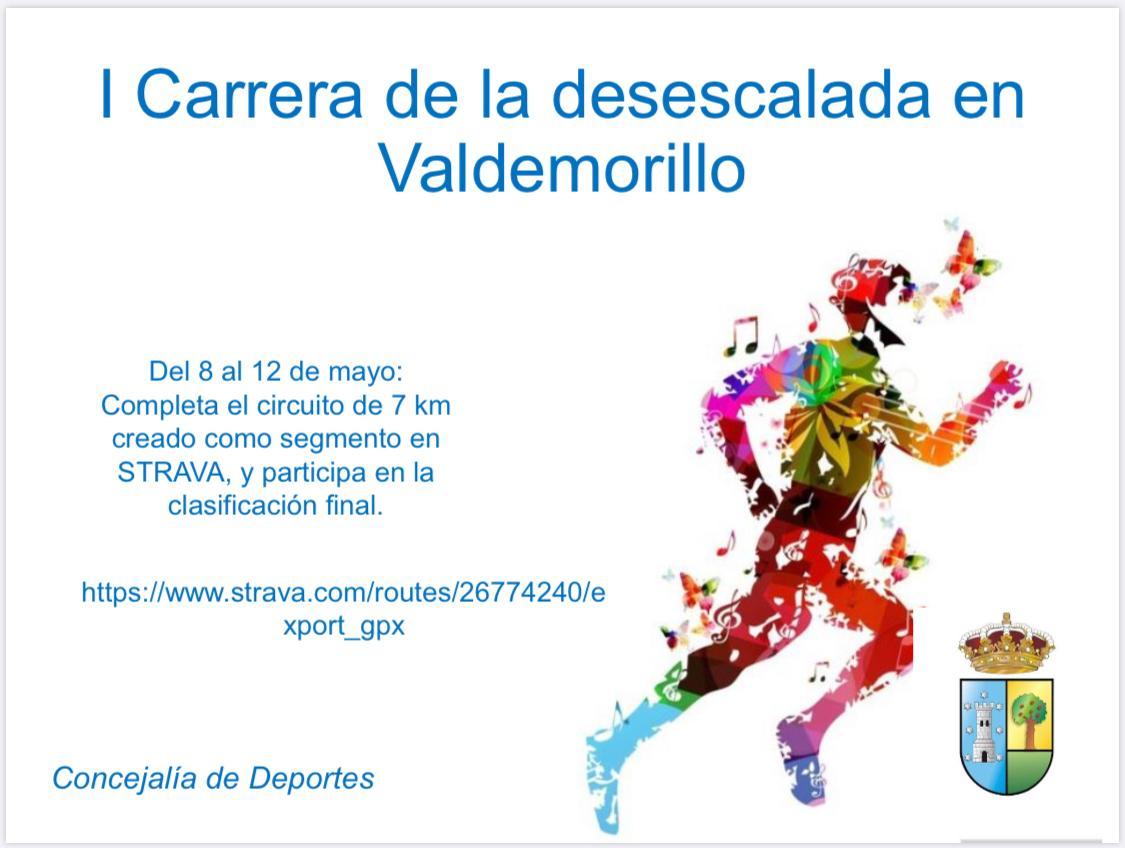 Desde este viernes 8 y hasta el 12 de mayo ya se puede competir en la I Carrera de la Desescalada en Valdemorillo