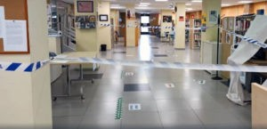 Sólo devoluciones en los primeros días  tras la reapertura de la Biblioteca Municipal