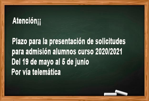 """La Concejalía de Educación y Cultura  abre el plazo para la presentación """"por vía telemática""""  de las solicitudes de escolarización en todos los ciclos para el curso 2020/2021"""