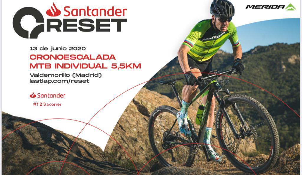Induráin vuelve a competir este 13 de junio  en Valdemorillo en la primera prueba deportiva oficial tras el confinamiento, RESET,  evento cero en la nueva temporada de MTB