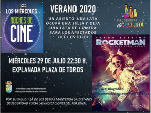 Rocketman, el musical que pone  en pantalla la vida de Elton John,  este miércoles en Valdemorillo en una nueva noche de cine