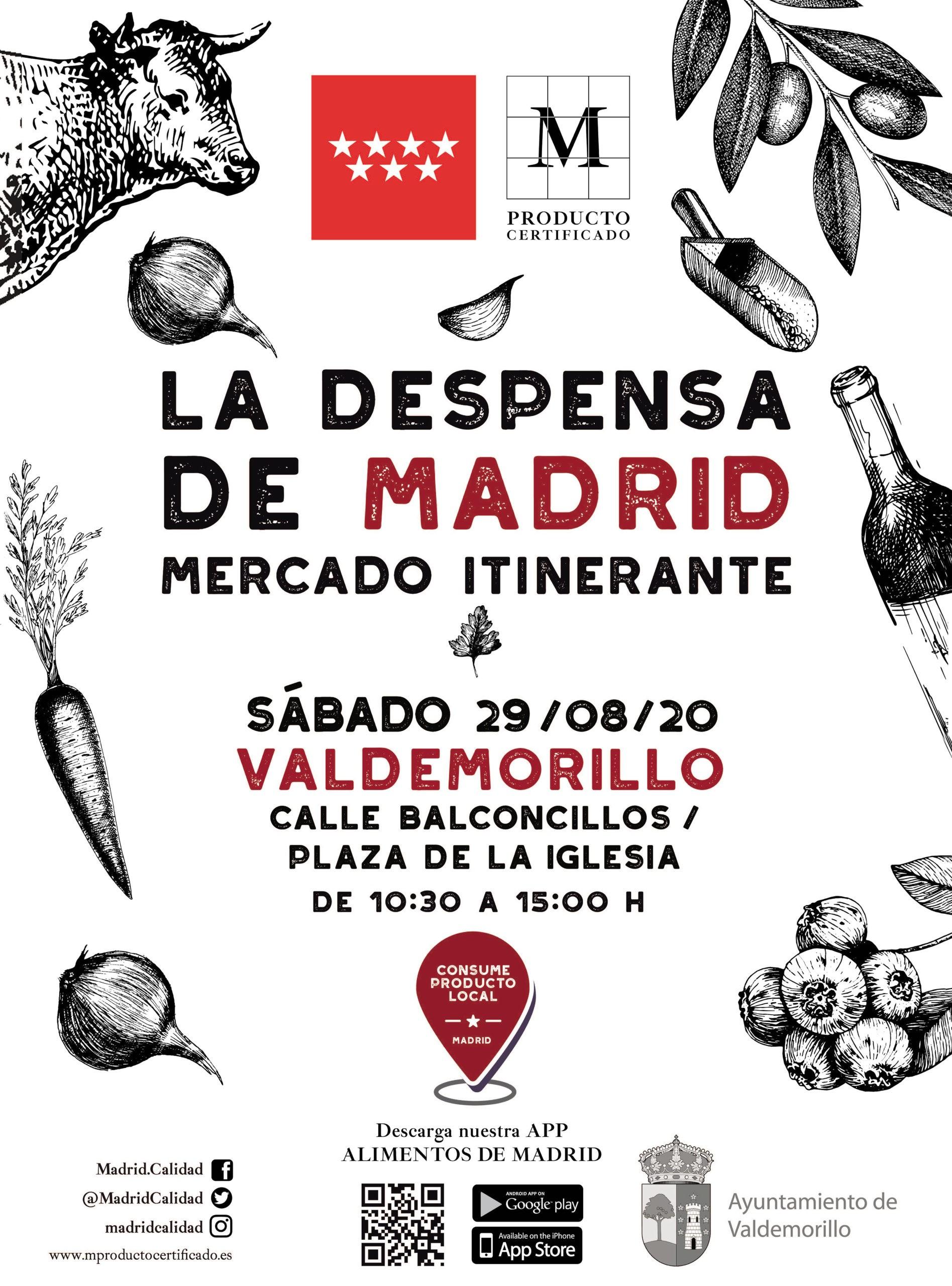 Valdemorillo pone en bandeja  todo el sabor y calidad de los alimentos de la región.  Este 29 de agosto, 'La Despensa de Madrid' abre de 10,30 a 15 horas en la calle Balconcillos
