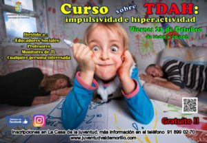 La concejalía de Juventud amplía su oferta formativa  con el curso sobre TDAH: impulsividad e hiperactividad