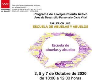 """Escuela de Abuelas y Abuelos,  taller on line para """"acompañar"""" a los mayores de 60  en su labor educadora con los nietos"""