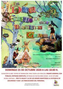 'El diario secreto de los hermanos Grimm'  se presenta en pase de preestreno este 25 de octubre sobre las tablas de la Giralt Laporta