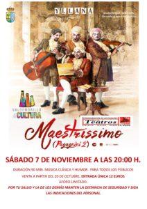 """Yllana vuelve a Valdemorillo con la """"afinada"""" puesta en escena de 'Maestrissimo. Pagagnini 2',  un espectáculo cómico musical que  acerca los clásicos para hacer disfrutar a todos los públicos"""
