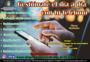 'Gestiónate el día a día con tu teléfono', nuevo curso organizado en Valdemorillo para jóvenes mayores de 55 años