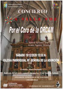 """El coro de la Comunidad de Madrid, este sábado 19  en la iglesia de Nuestra señora de la Asunción de Valdemorillo  para invitar a disfrutar de un singular viaje sonoro  en las notas de 'A villa voz',  """"un concierto único en un escenario excepcional"""""""