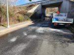 Primeras actuaciones del dispositivo municipal  para paliar los efectos de nevadas y heladas en las calles  y calzadas de Valdemorillo