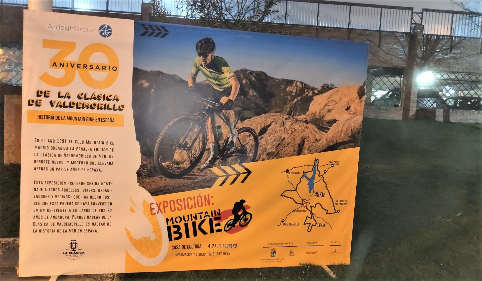 La historia del mountain bike en España se muestra con todos sus detalles y curiosidades  en la gran exposición conmemorativa del  XXX Aniversario de la Clásica de Valdemorillo