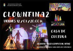 'Clownfina2' este viernes 12 de marzo en la  Giralt Laporta para disfrutar con Zascandiles  de una simpática función familiar llena de vitalidad y esperanza