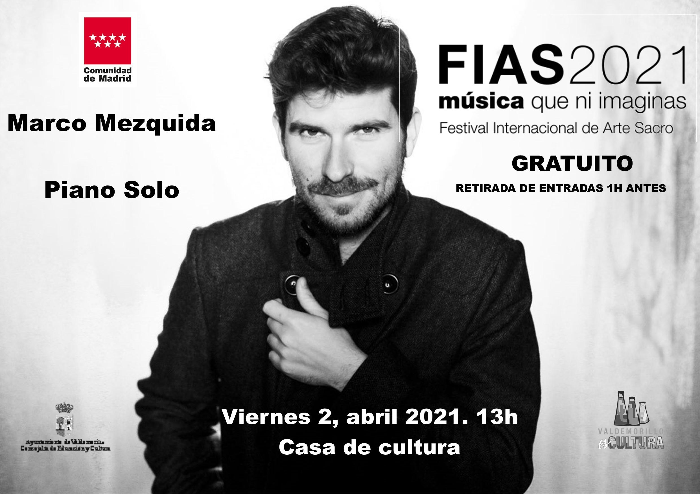 Marco Mezquida y su particular forma de tocar el piano, este Viernes Santo a las 13,00 horas en  la Casa de Cultura