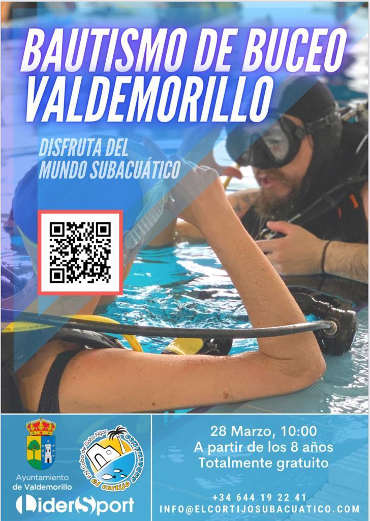 Bautismo de buceo, este domingo 28 de marzo en la piscina cubierta del Eras Cerradas para los vecinos de Valdemorillo mayores de 8 años