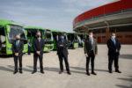 Transporte público más ecológico y seguro en Valdemorillo con los siete autobuses incorporados ya al servicio de las diferentes líneas y que en breve volverán a pasar por el centro urbano en sus viajes procedentes de Madrid con la implantación de un proyecto tecnológico también pionero