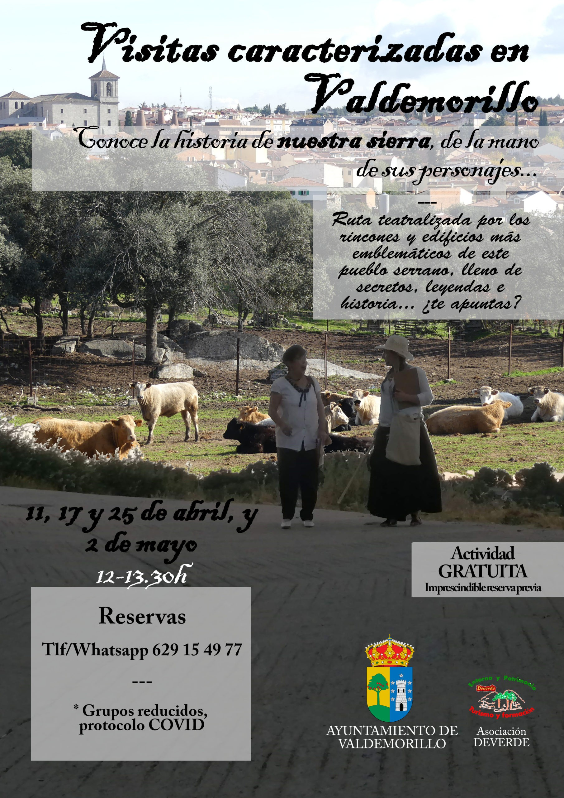 Primeras rutas teatralizadas en Valdemorillo,  el 11, 17, 25 de abril y 2 de mayo, para poner en valor sus singulares parajes y tradiciones de la mano de los personajes que forjan la historia de esta villa
