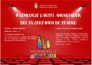 Convocada la segunda edición del concurso para la elección del cartel anunciador del  XX Certamen Nacional de Teatro Aficionado