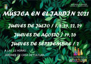 Música en el Jardín estrena nueva edición  este 1 de julio para ponerle acento muy especial a las veladas veraniegas de los jueves