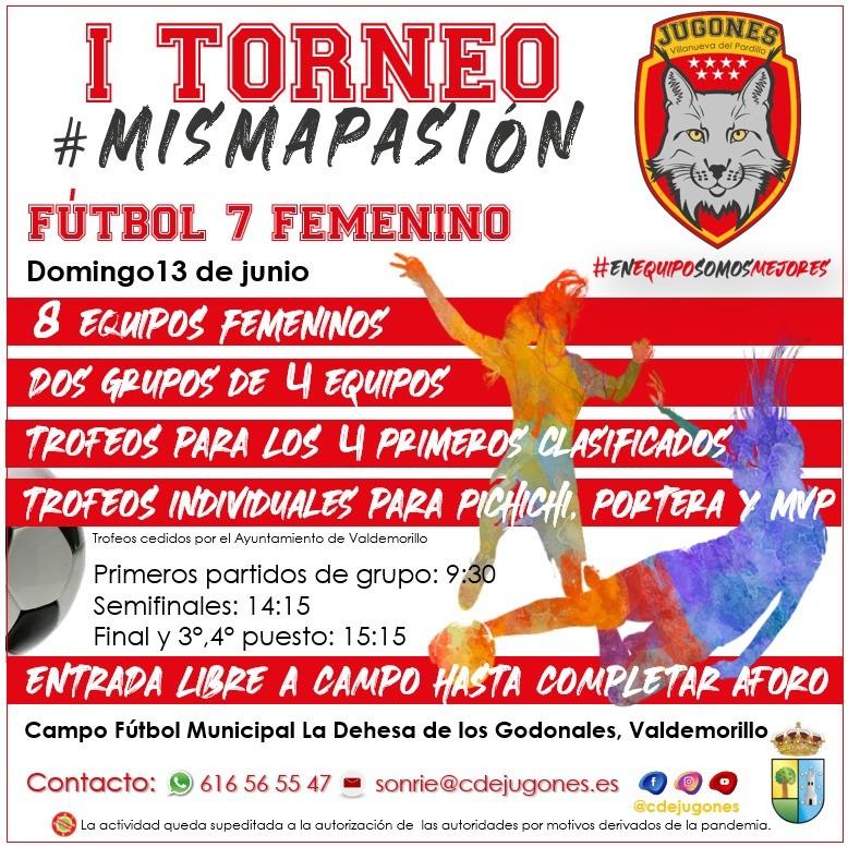 Primera gran cita del fútbol 7 femenino en Valdemorillo, este 13 de junio, con el I Torneo #MISMAPASIÓN