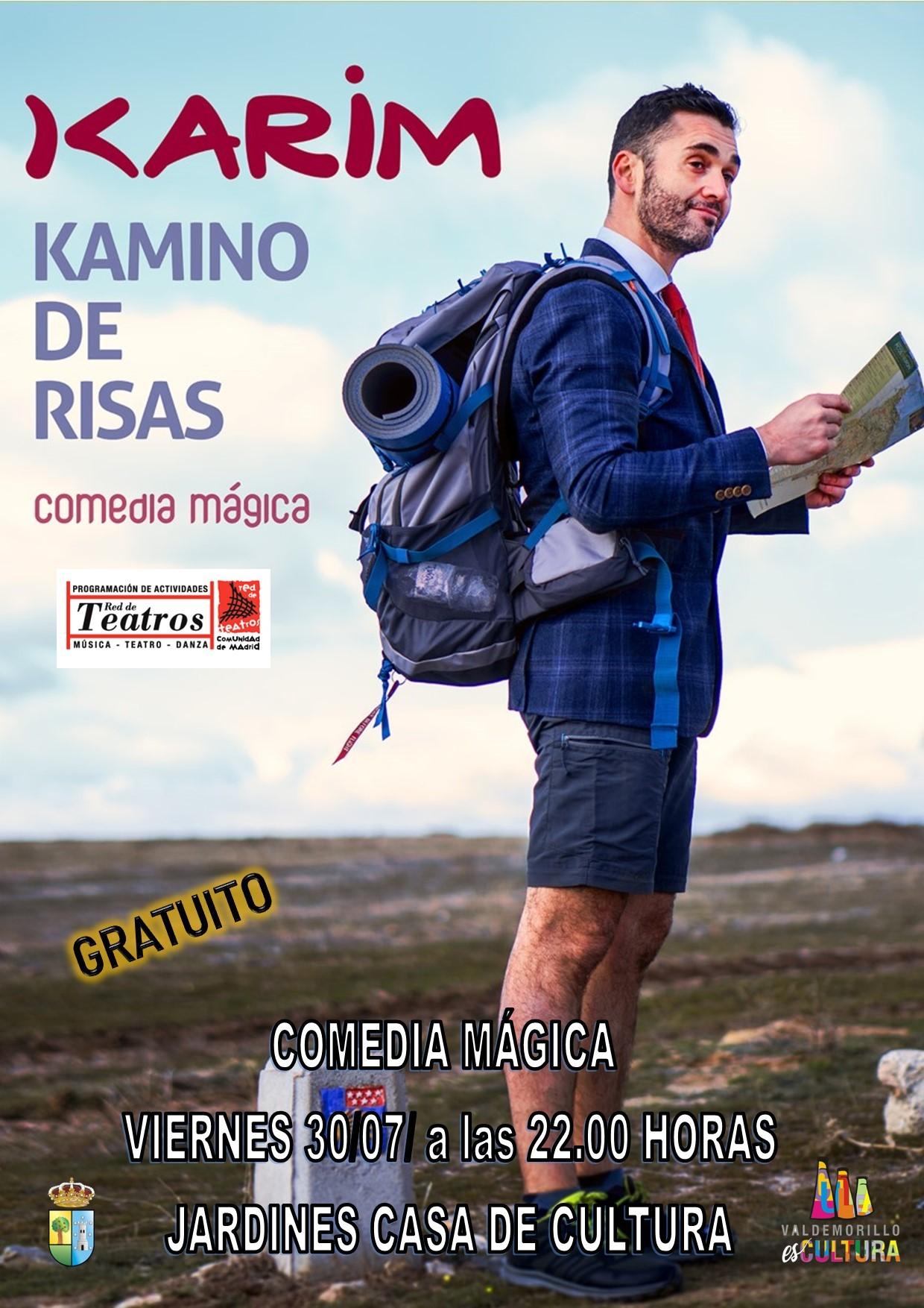 Valdemorillo invita este viernes a acompañar al  Mago Karim en su 'Kamino de risas', un espectáculo lleno de humor a disfrutar en los jardines de la Giralt Laporta