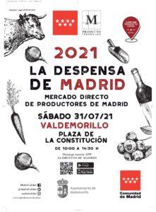 Este 31 de julio, Valdemorillo pone en bandeja su apuesta por los productos de proximidad reuniendo en pleno centro urbano todo el sabor y calidad de 'La Despensa de Madrid'