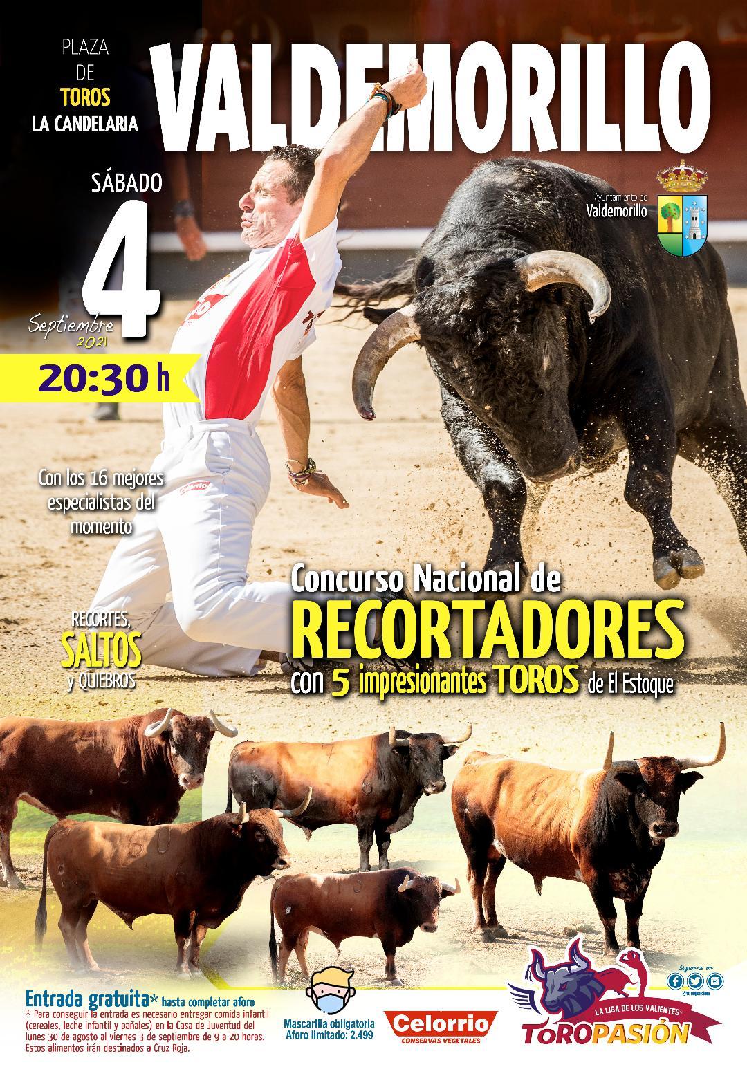 Los mejores especialistas saldrán al ruedo de La Candelaria este 4 de septiembre para disputarse el triunfo en un Concurso Nacional de Recortadores que combina espectáculo y solidaridad